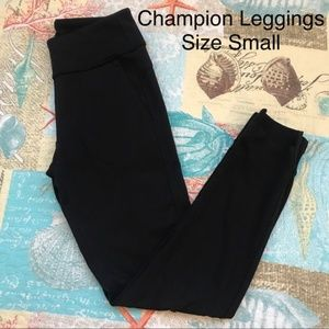 Champion Black Athletic Pocketed Leggings Small